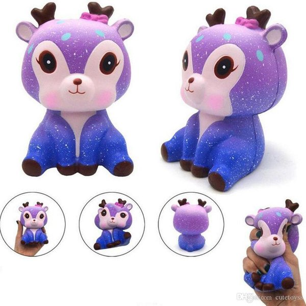 Good Squishy 12cm New Cream Galaxy Cute Animal Jumbo Scented Squishy Slow Rising Squeeze Strap Kids Baby Practical Jokes Toy T122