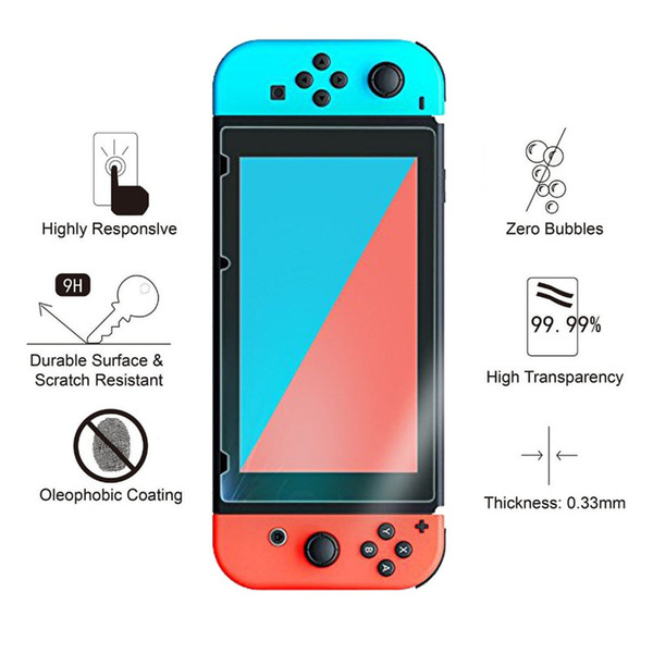 best selling Premium Tempered Glass Screen Protector For Nintend Switch Screen Protector For Nintendo Switch NS LCD Screen Protective Guard Film