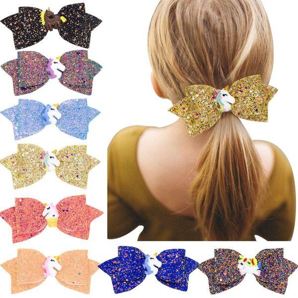 Sequins Cartoon Girl Hair Clips Fashion Baby Bowknot Blink Barrettes Cute Kids Party Shining Butterfly Children Hair Accessories TTA751