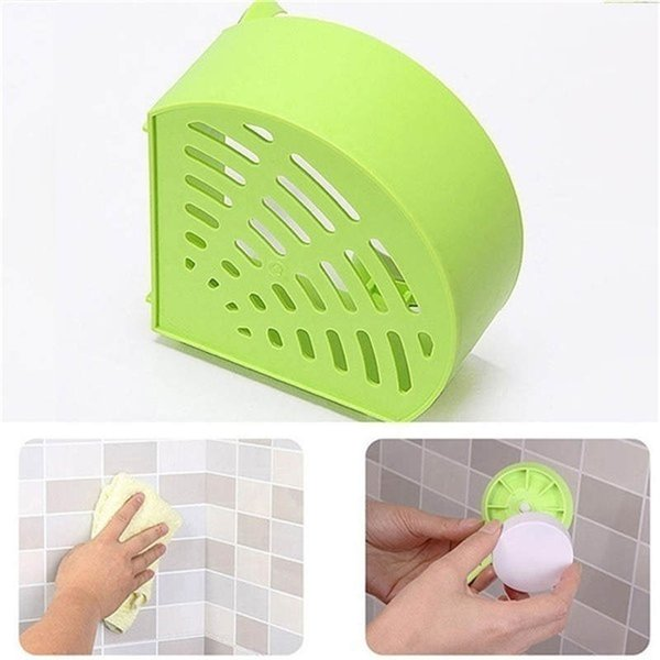 2019 fashion Little Things For The Kitchen Plastic Suction Cup Bathroom Kitchen Storage Organizer Shower Shelf