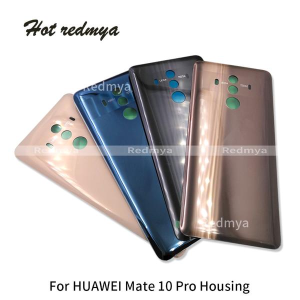 Задняя 3D Стекло Крышка Батареи Задняя Дверь Задняя Крышка Корпуса Для Huawei Mate 10 Pro 6.0 дюймов Корпус Крышка Батареи Стекло + Наклейка