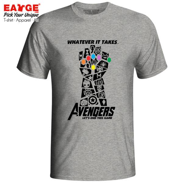 Avengers 4 Endgame T Shirt Marvelous Infinity War End Game Thanos Tshirt Novelty T-shirt Eatge Cotton White Gray Men Women Tee S19709