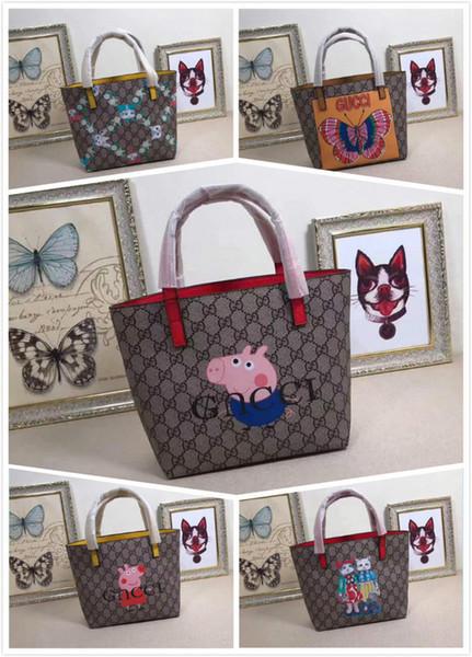 410812 cartoon shopping bag Women Handbag Top Handles Shoulder Bags Crossbody Belt Boston Bags Totes Mini Bag Clutches Exotics