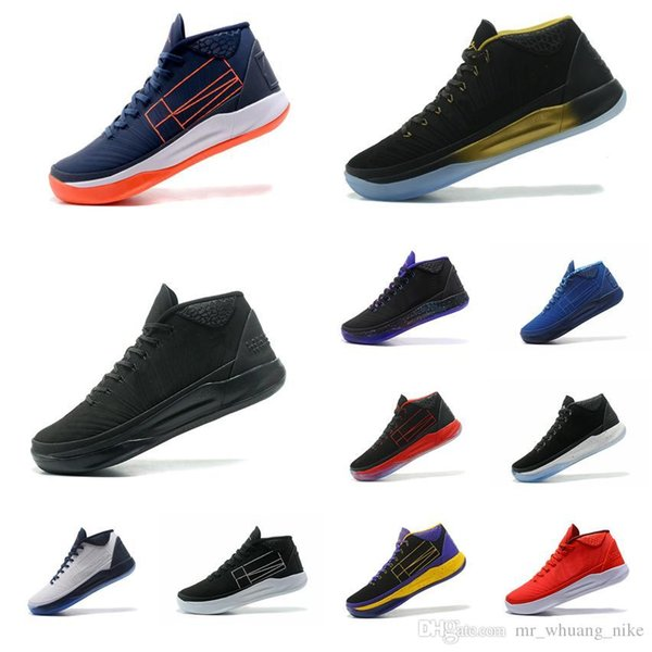 Cheap Men Kobe AD Mid 12 XII elite basketball shoes BHM Triple Black White Gold Purple Blue ID KB air flights sneakers boots tennis for sale