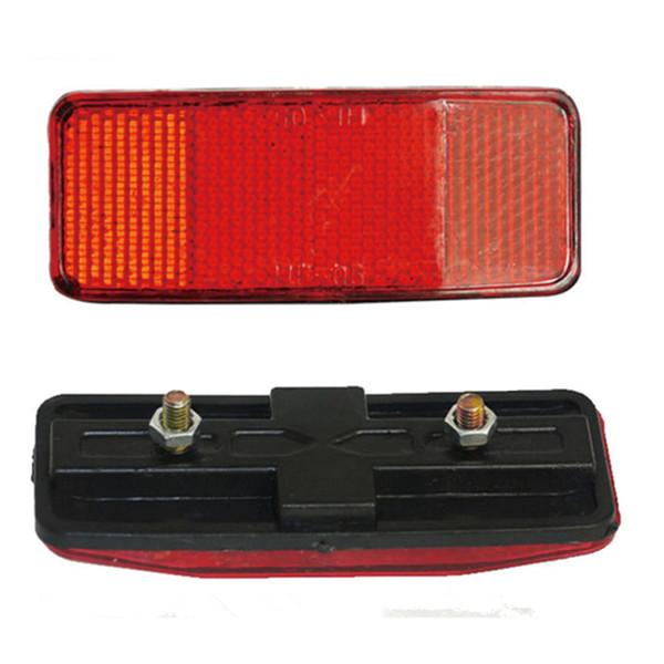 Bisiklet Plastik Yan Işık Yansıtıcı Stop Lambaları MTB Bisiklet Güvenliği Dikkatli Uyarı Reflektör Disk Arka Panel Rafları 30ST08.