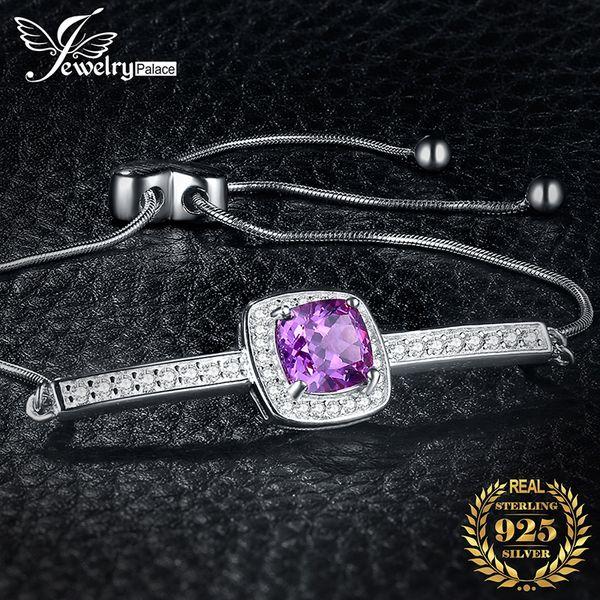 created alexandrite sapphire 925 sterling silver bracelet bolo chain gemstones bracelets for women silver 925 jewelry making