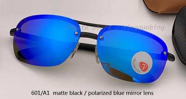 601 / A1 ماتي الأسود / الأزرق المستقطب