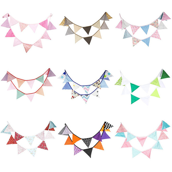 Wholesale Fabric Bunting Personality Wedding Birthday Party Decoration Indian tent Decoration Garden Garland