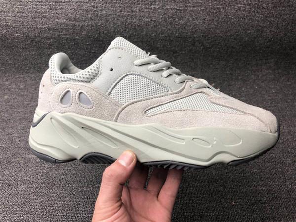 Adidas Yeezy Boost 700 Dalga Koşucu Erkek Kadın Koşu Ayakkabıları V2 Statik Tasarımcı Sneakers Leylak Katı Gri Tuz 36-48