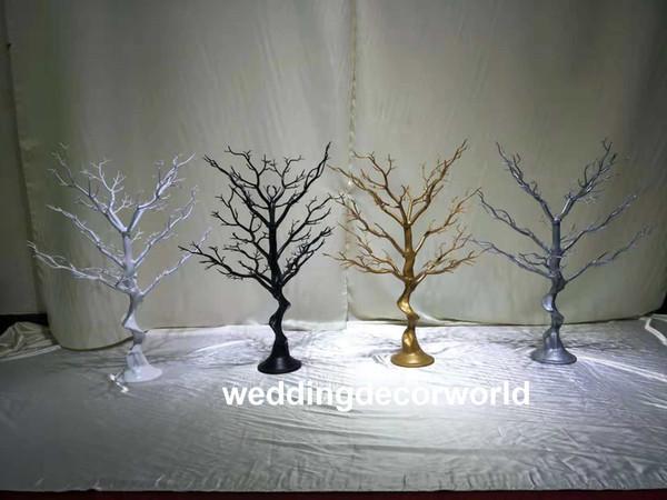 sin cristal colgante) hermosas flores altas se colocan sin centros de mesa de boda de cristal transparente decoración decor0694