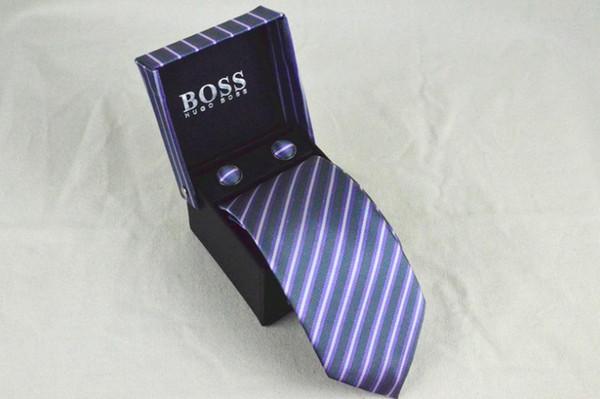 Accesorios para hombre Corbatas de poliéster a cuadros para hombres Marca Corbatas Gatos ajustados para empresas Corbata para traje de fiesta de bodas