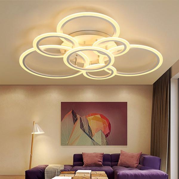 Großhandel Neue Moderne Kunst Acryl LED Deckenleuchten Wohnzimmer  Deckenlampe Schlafzimmer Dekorativer Lampenschirm Lamparas De Techo  Leuchten Von ...