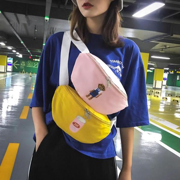 Fashion Women Waist Packs Shoulder Bag Cartoon Print Waist Fanny Bag Chest Packs Crossbody Bags Casual Women Accessories Bolsos