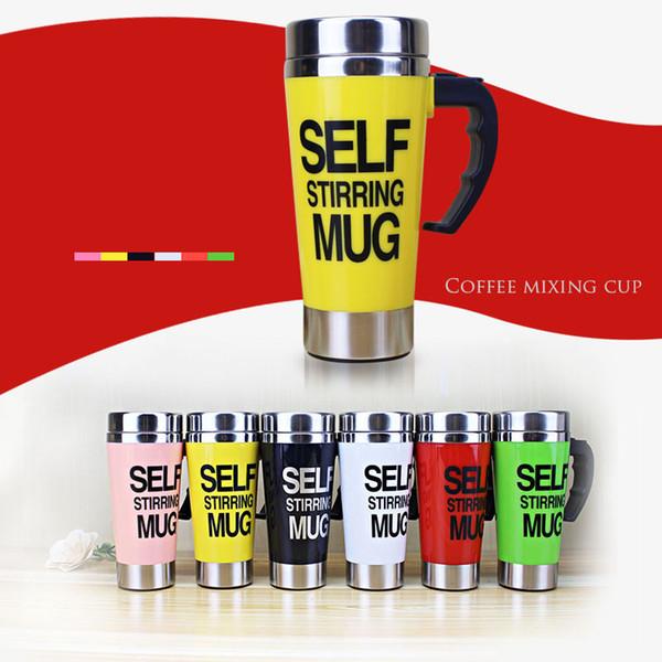 Tazza di miscelazione automatica del latte del caffè 500ml Tazza di agitazione automatica Tazza termica dell'acciaio inossidabile Tazza di doppio isolamento intelligente pigro elettrico T8190627
