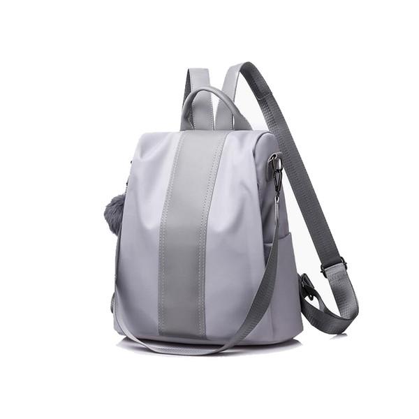 Simple Middle Stripe Design Women Soft Backpack
