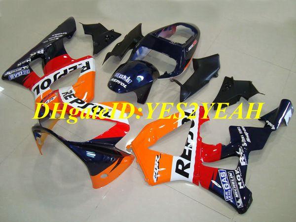 Инъекции плесень обтекатель комплект для Honda CBR900RR 929 00 01 ЦБ РФ 900RR CBR900 2000 2001 ABS красный оранжевый синий обтекатели комплект+подарки HZ17