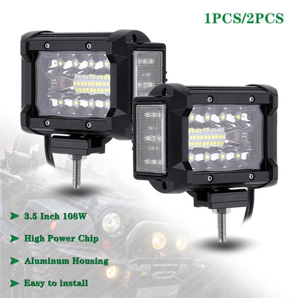 3.5 Polegada 108 W LED Trabalho Luz 12 V 24 V Luminosa Leve Bar Carro Offroad Condução Para 4x4 Caminhões Veículos Off-road