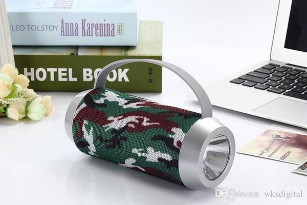 Wrdlosy J5 Mini Column Handle Portable Bluetooth Flashlight Speaker 5W Loudspeaker Outdoor With Hands free calling TF USB Powerbank Speaker