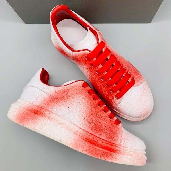 Tasarımcı Ayakkabı Deri Yapma Lüks erkekler ve kadınlar Ayakkabı Kalın sole Hava Moda rahat Ayakkabılar En Kaliteli Tam Serisi Renkler N2: MQ1-ONE