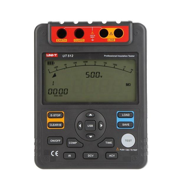 Freeshipping 2500V 100Gohm Digital Insulation Resistance Testers Meters UNI-T UT512 Voltmeter Auto Range w/USB Interface Meters Megohmmeter
