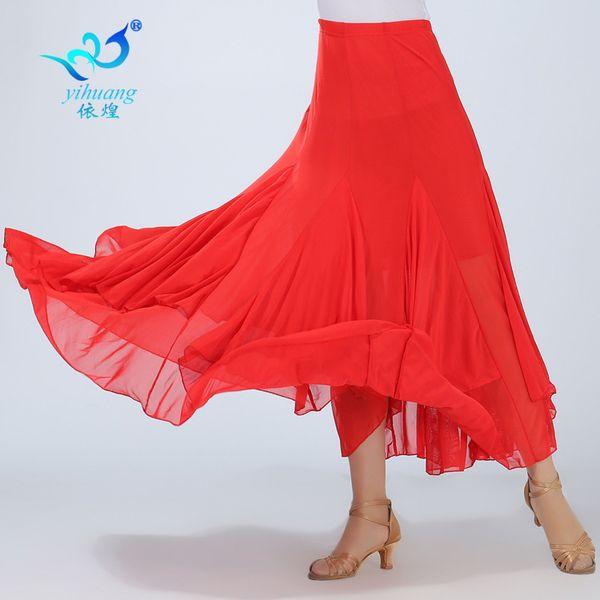 Lady Ballroom Dancing Skirt Girls Fashion Waltz Dancing Suit Female Rumba Dance Costume Female Competition Costume D0044