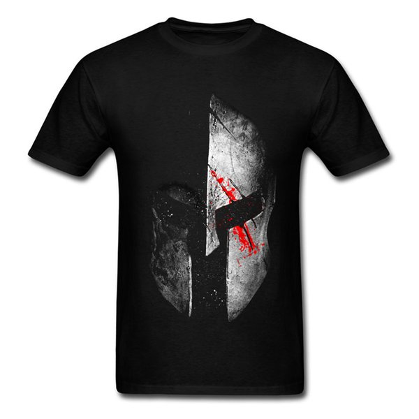 Moda Molon Labe Spartan T-shirt Hombres camiseta 3d Tops de algodón Camisetas gráficas Máscara de metal pesado Camiseta de talla grande Negro Ropa
