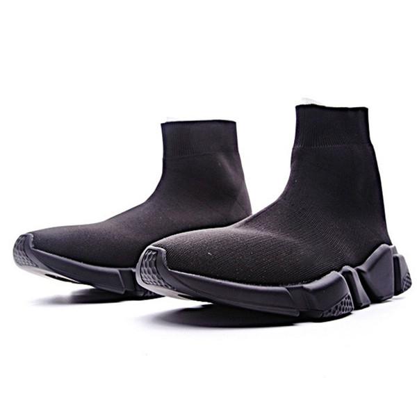 2019 Rahat Çorap Tasarımcı Ayakkabı İngiliz Ayak Bileği Kısa Elastik Streç Çorap Marka Ayakkabı Üzerinde Kayma Kadın Sneakers Çizmeler Çörek 2019 Ağır Sole