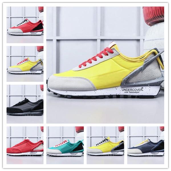 Compre NIKE Air Max Shoes Atacado Cortez SACAI LDV X Waffle Daybreak Formadores Mens Running Shoes Verde Gusto Pine Verde Lobo Cinzento Almofada