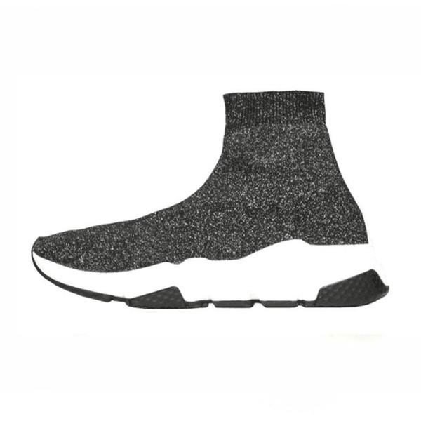 3A 2019 tasarımcı çorap erkek kadın spor ayakkabı moda Ayakkabı siyah beyaz kırmızı glitter yeşil pembe Düz erkek Eğitmenler Koşucu rahat ayakkabı boyutu 36-45
