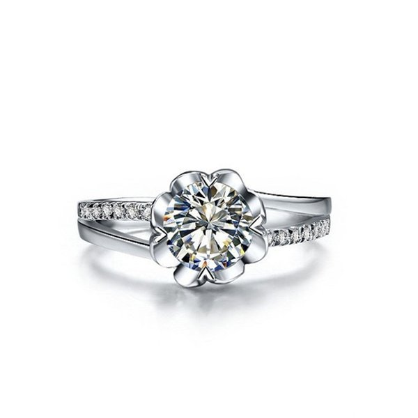 Enchanting Jewel 1CTW 6.5mm G-H Moissanite Marriage Proposal Ring CHARLES & COLVARD WARRANTY 925 Sterling Silver Diamont Ring