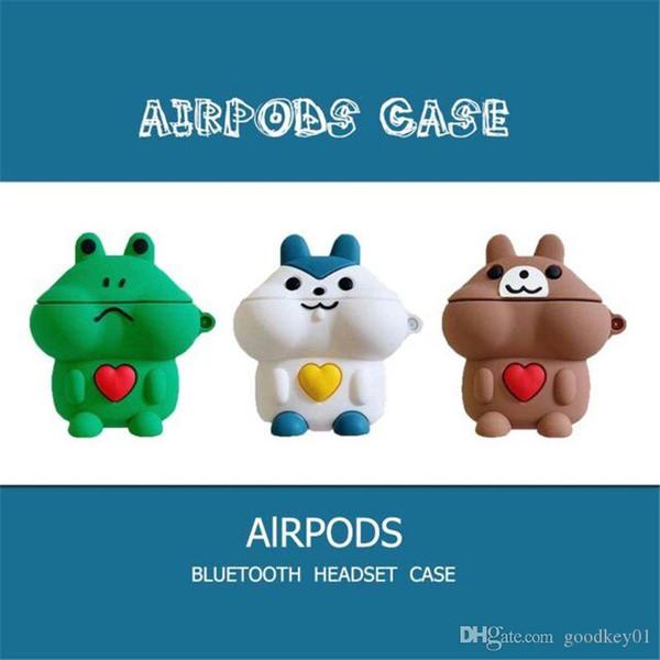 Для компании Apple AirPods 2 1 Пара любителей Earpods чехол 3D смазливая мультфильм Салли Chick Frog Беспроводные наушники наушники Обложка для Airpods 2