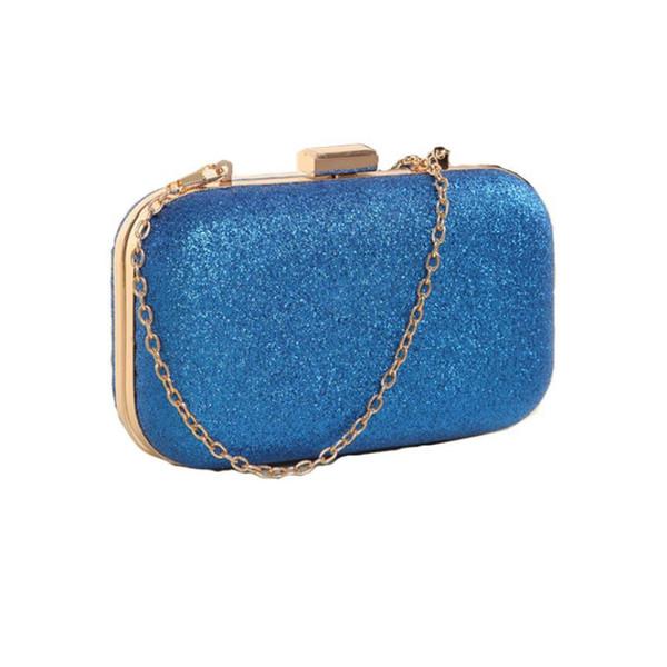 Designer-Nice Women Fashion Bag Girl Clutch Box Ladie Evening Party Glitter Chain Hand Bags Bolsas feminina#A