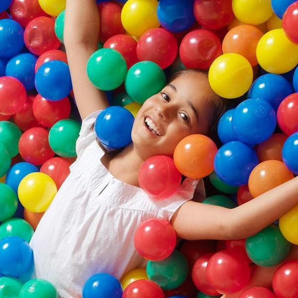 200 Pz Palline da piscina Eco-Friendly Palline di plastica colorate Divertenti Baby Kid Nuotate Pit Toy Bambini Sforzo Aria Outdoor Ocean Wave Ball SH190913