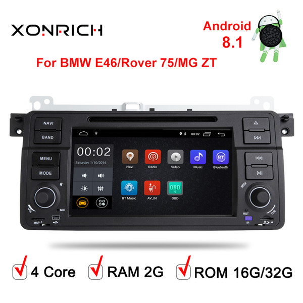 AutoRadio 1 Din Android 8.1 Car DVD Player For BMW E46 M3 318/320/325/330/335 Rover 75 1998-2006 GPS Navigation BT Wifi
