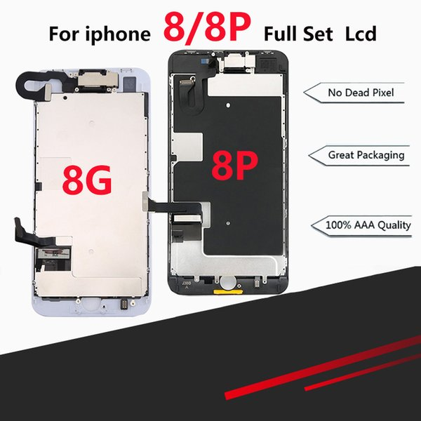 Premium Full LCD Assembly For iPhone 8 8 Plus Full Display with 3D Touch Screen and Front Camera Home Button Spare Parts