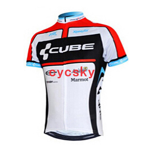 CUBE 2019 Breathable Cycling Jersey Short Sleeve MTB Bicycle Clothing Summer 100% Polyester Racing Bike Cycling Clothes