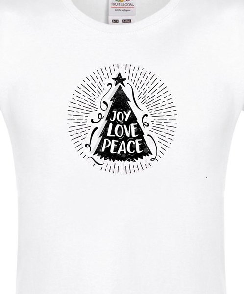 CHRISTMAS TREE PEACE LADY-FIT T-SHIRT jersey Print t-shirt Brand shirts jeans Print Classic Quality High t-shirt