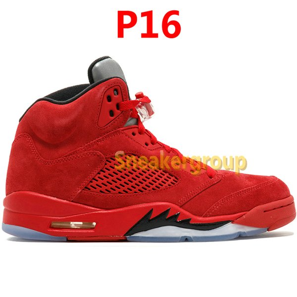 P16-Red Suede