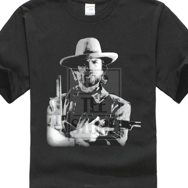 Clint Eastwood T Shirt Cowboy Wild West Film Movie Vintage Retro Birthday New Arrival Men's Short