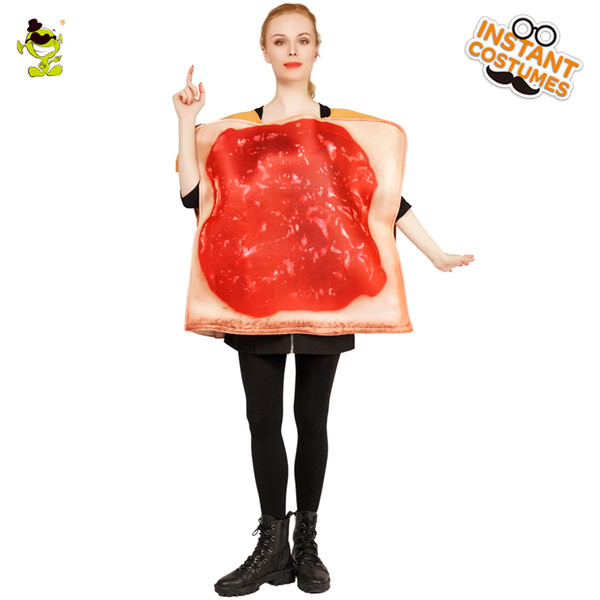 Novo Estilo Halloween Ladies Jam Toast Traje adulto Yam Vermelho Macacão Yam Para Carnaval Partido Cosplay