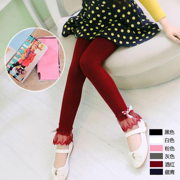 Kid Girl Leggings Spring Autumn Leggings Girls Lace Skinny Pants Casual Clothing Roupas Infantis Menina Baby Fashion Outfit