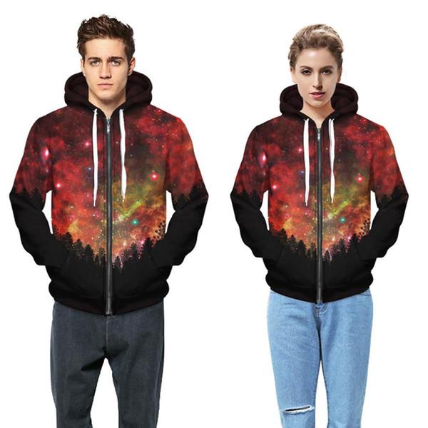 großhandel roter stern baseball uniform digitaldruck code zip up hoodie mit kapuze langärmelige jacke freizeit sport