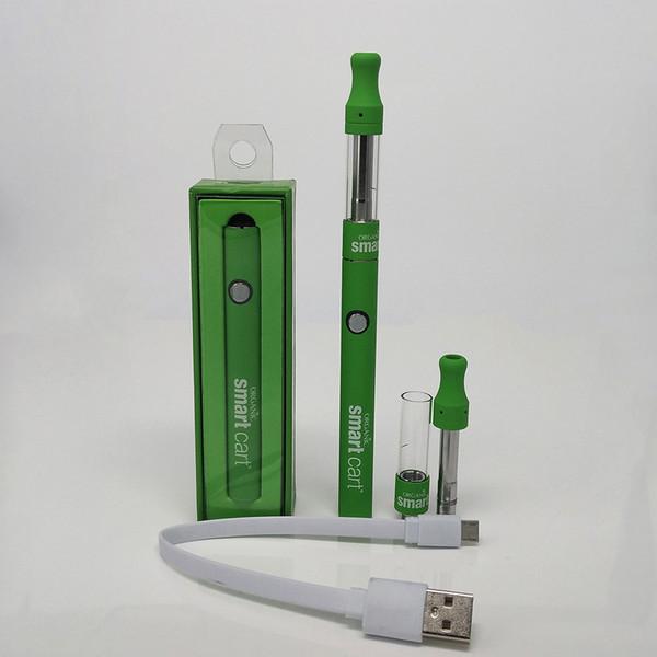 Ego Starter Kit 510 Atomizer Electronic Cigarette e cig kit 380mAh Smart Cart Batería Cartuchos Empaquetado Clearomizer E-cigarrillo