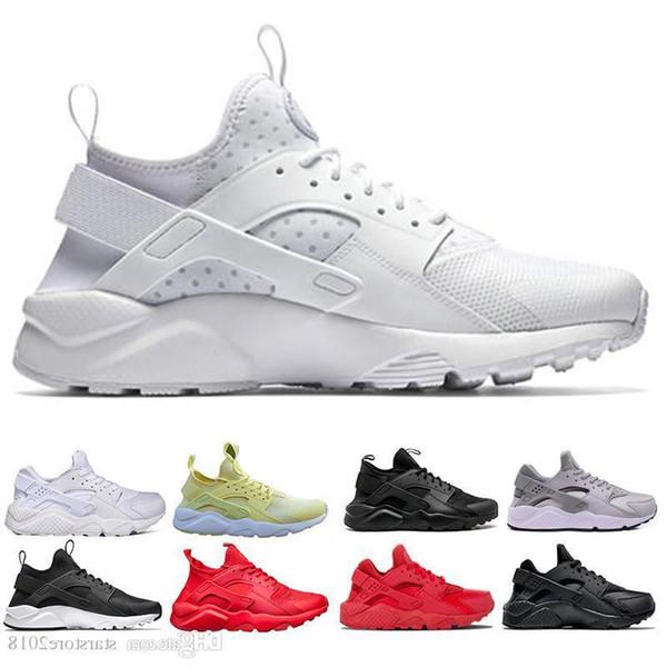 Новый 2019 Huarache Ultra Run Shoes Тройной Белый Черный Красный Мужчины Женщины Кроссовки Желтый Серый Huaraches Спортивная Обувь Мужские Женские Кроссовки