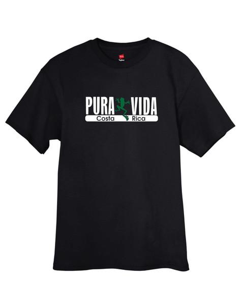 T-shirt da rã de árvore de Pura Vida Costa Rica T sem etiqueta dos homens com etiqueta livre SH LIVRE! 2018 novos homens de manga curta 100% algodão família top tee