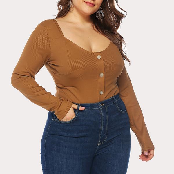 fbc57d1efebe plus size white bodycon jumpsuit Promo Codes - Women Sexy V Neck Plus Size  Bodysuit Long