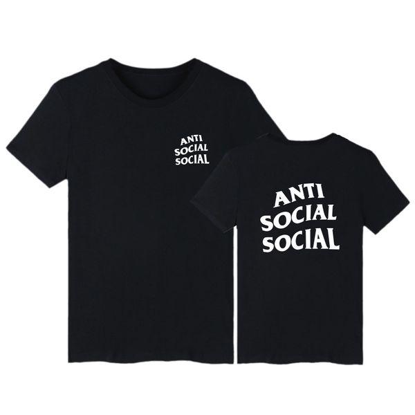USA Bestseller beiläufiges kurze Hülse T-Shirt unsoziale SOCIAL Muster 65% Baumwolle Dünnes Material T-Shirt Leniency Marke Trend Bekleidung für die Freizeit