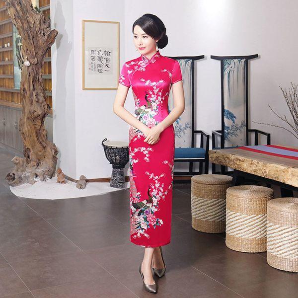 c7b36bfa9e8 New Design Women Vintage Chinese Traditional Cheongsams Wedding Party Sexy  Elegant Bodycon Dress Qipao Split Dresses
