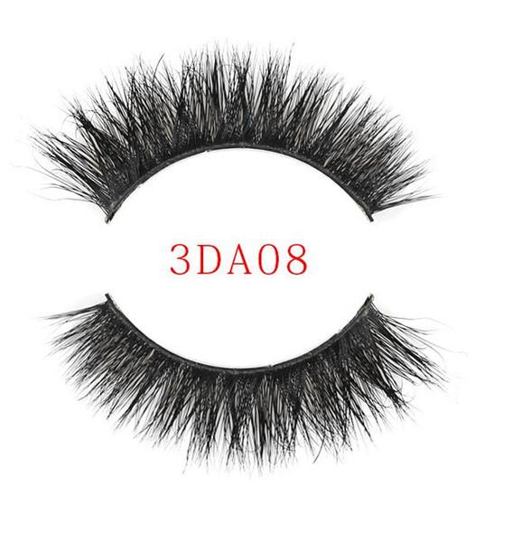 1Pair lot 100% Real Siberian 3D Mink Eyelashes Full Strip False Eyelash Long Individual Eyelashes Mink Lashes Extension
