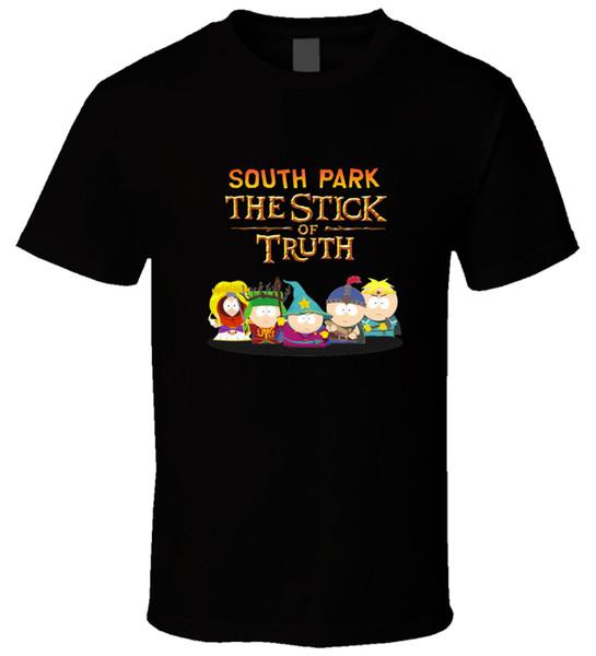 SOUTH PARK Stick of Truth 2 Noir T ShirtFunny livraison gratuite Unisexe Casual Tshirt